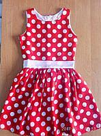 Детские платья 3-6 лет Крупный горох