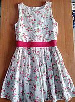 Детские платья 3-6 лет Розовые цветы