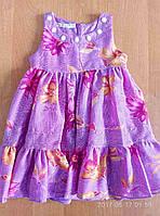 Детские платья 2-4 лет Шифон(сирень)