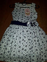 Детские платья 3-6 лет белое цветами