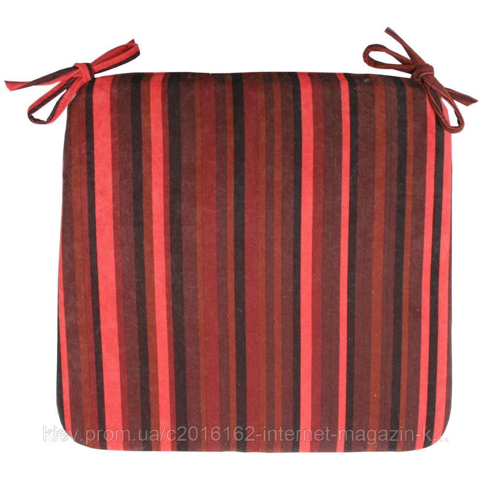 Подушка для стула Home4You NICE  39x39cm  красно-черными полосами