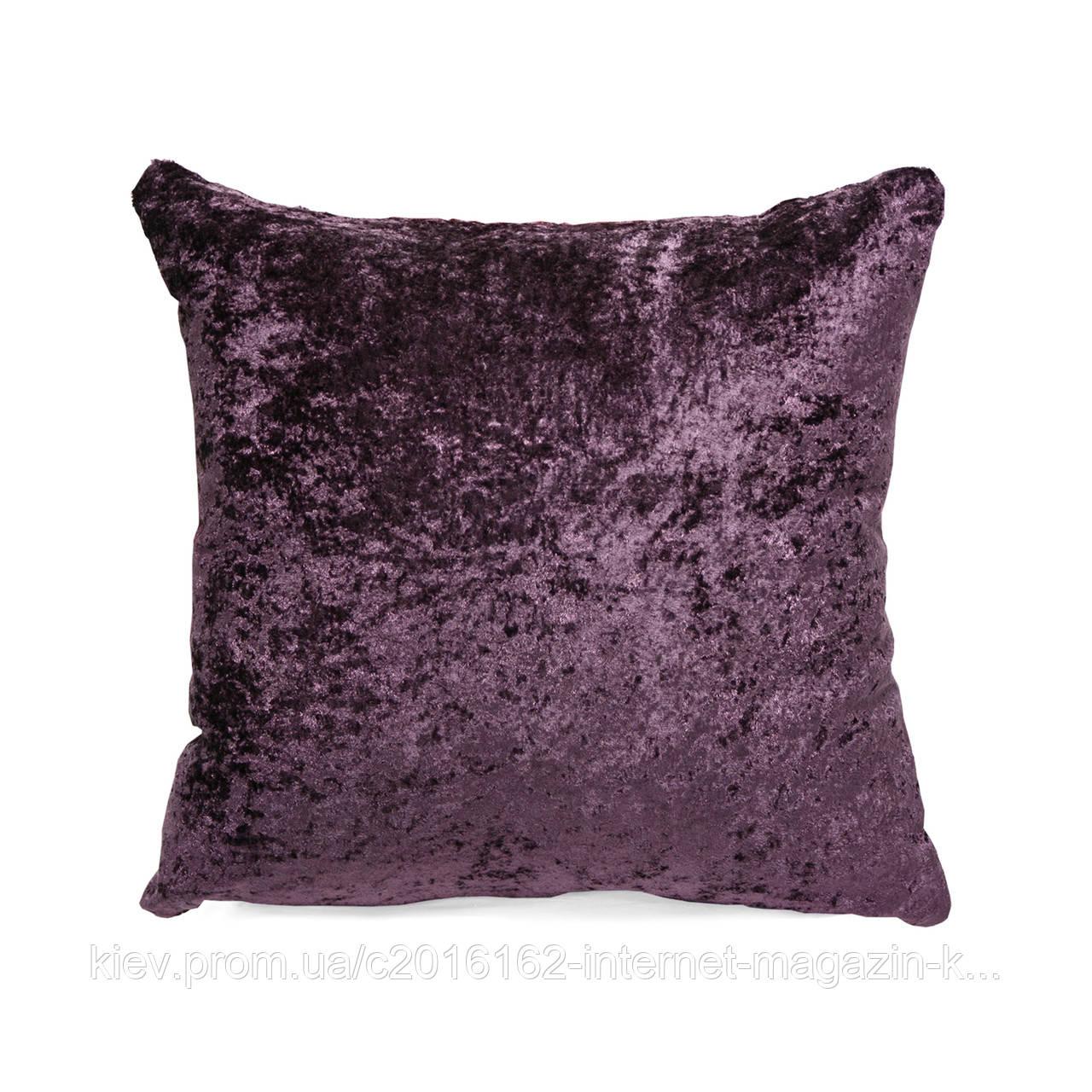 Подушка для дивана Home4You MEDICI  40x40cm  темно-лиловая с атласным отливом