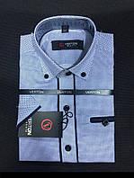 Рубашка на мальчика 6-13 лет Slim Fit приталенная   с коротким рукавом (коттонн)