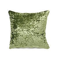 Подушка для дивана Home4You MEDICI  40x40cm  фисташковая с атласным отливом