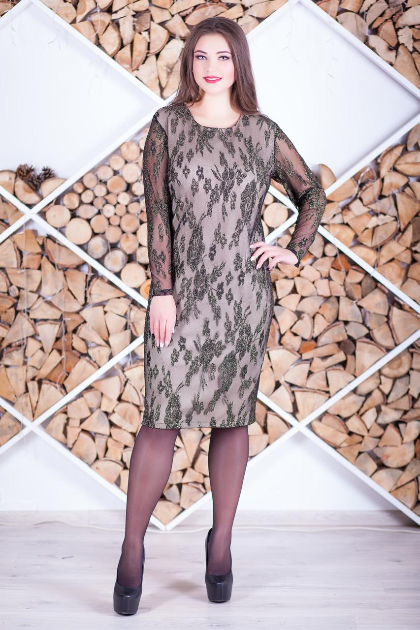 """Нарядное вечернее платье большого размера """"Ладона"""""""
