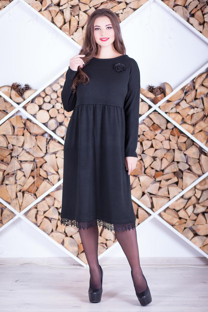 """Красивое платье большого размера """"Ольша"""" из ангоры"""