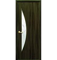 Двери межкомнатные Экошпон Луна кедр 80 с рисунком