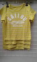 Футболка для мальчика оптом 2-6 лет Sallor светло желтый