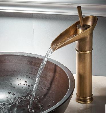 Смеситель кран для умывальника бронзовый однорычажный 0477
