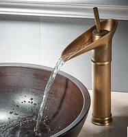 Смеситель кран для умывальника бронзовый однорычажный 0477, фото 1