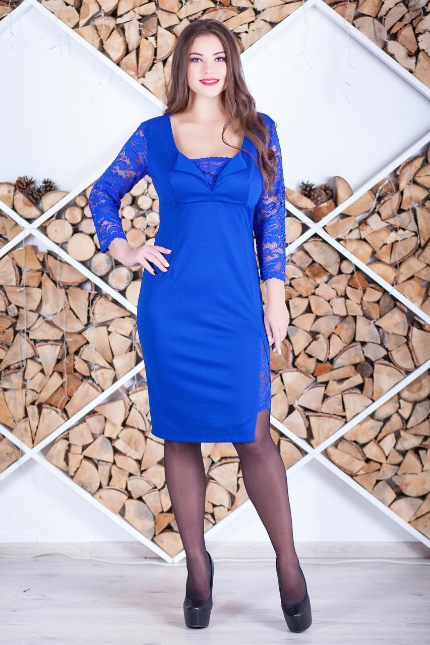 """Нарядное женское платье с гипюром """"Алисита"""""""