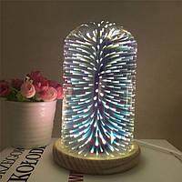 Светодиодная лампа с 3D эффектом фейерверка Звезды