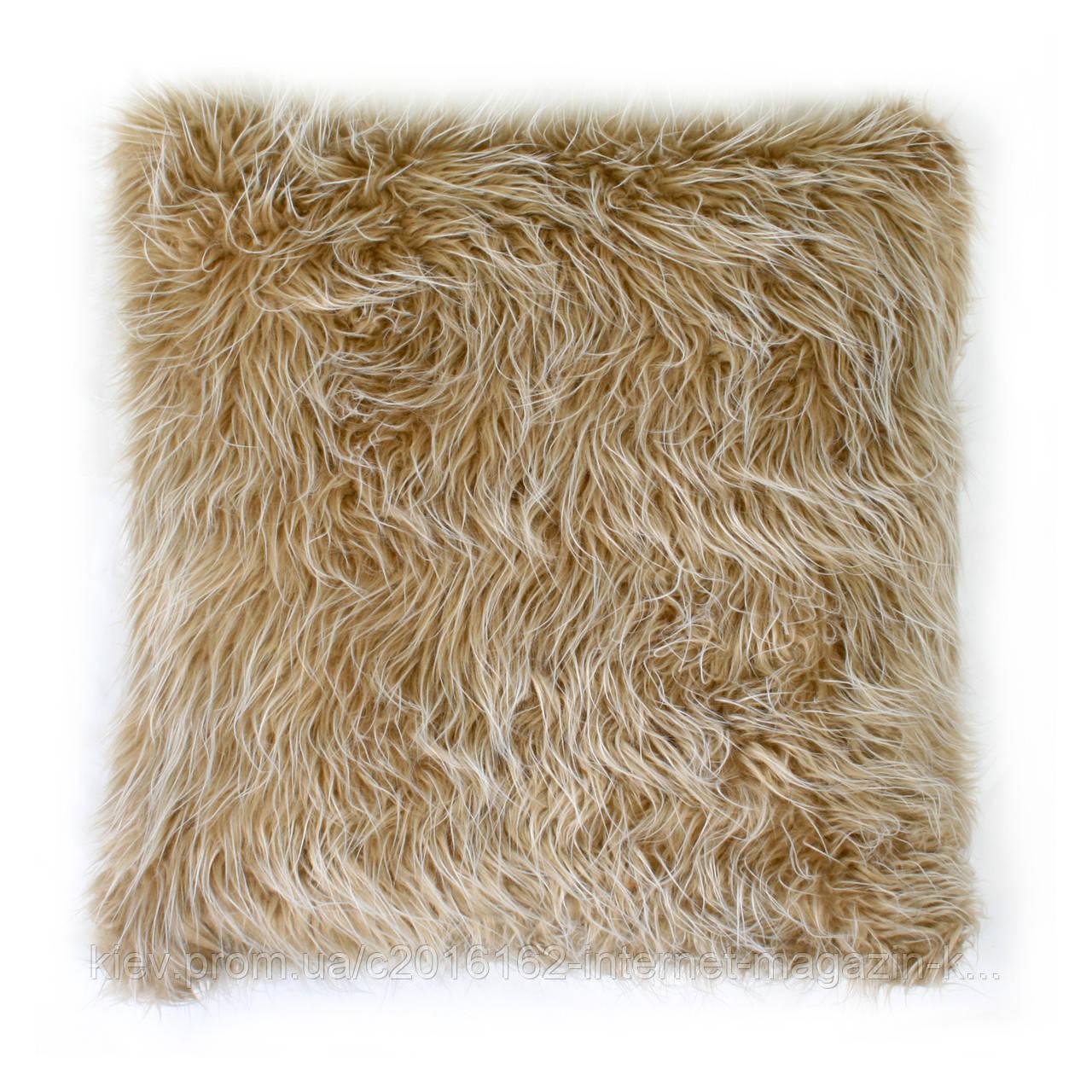 Подушка для дивана Home4You TREND  50x50 cm  бежевая с длинным ворсом
