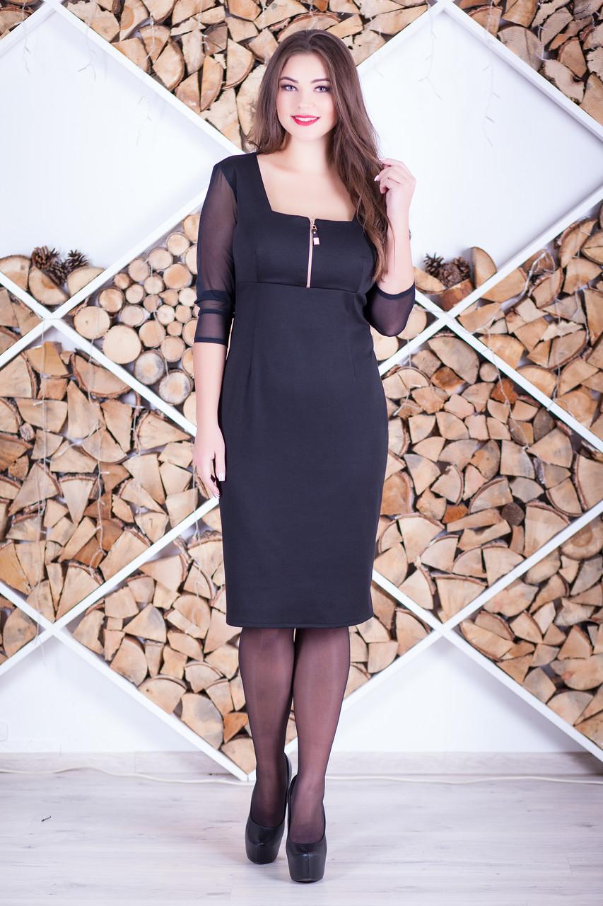 """Стильное женское платье """"Вовви"""" большие размеры"""