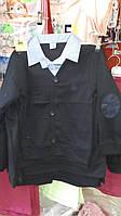 Кофта-двойка для мальчика на 6-14 лет вышивка