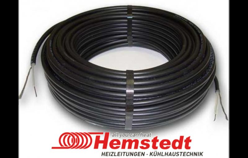 Тёплый пол в стяжку под ламинат, кафель 13.4-16.9 м.кв 2300 Вт. Одножильный кабель Hemstedt. Гарантия 20 лет.