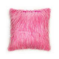Подушка для дивана Home4You TREND  50x50cm  розовая с длинным ворсом