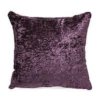 Подушка для дивана Home4You MEDICI  50x50cm  темно-лиловая с атласным отливом