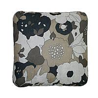Подушка для дивана Home4You NICE  50x50 cm  стильный ченоно-белый цветочный орнамент