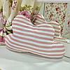 Декоративная подушка-тучка: розовая полоска, х/б наперник, наполнитель холлофайбер, 50х35 см