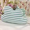 Декоративная подушка-тучка: мятная полоска, х/б наперник, наполнитель холлофайбер, 50х35 см