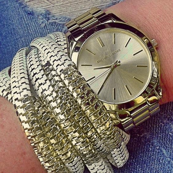 83d76485a6b0 PrettyLady.com.ua   Женские часы Michael Kors MK Classic золотистые ...