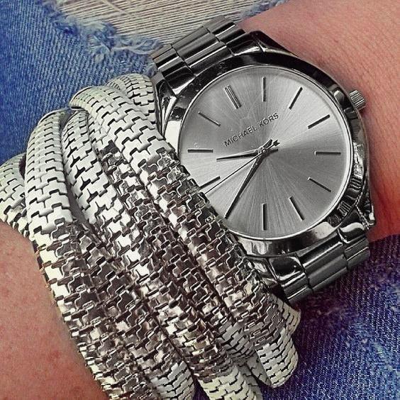 Женские часы Michael Kors MK Classic серебристые