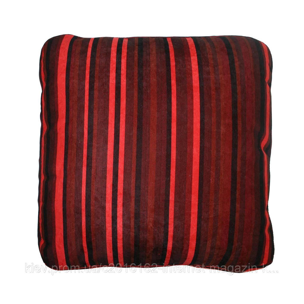 Подушка для дивана Home4You NICE  50x50 cm   красно-черными полосами