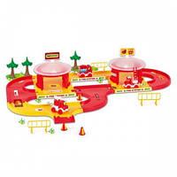 """Игровой набор Wader """"Пожарная станция с дорогой 3,1 м Kid Cars 3D"""" (53310)"""