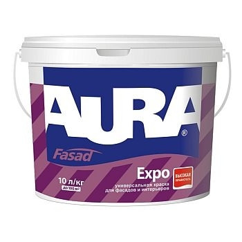 Фасадная краска  AURA Fasad Expo, TR (прозрачная), 9л