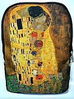 Джинсовый рюкзак Поцелуй, фото 1