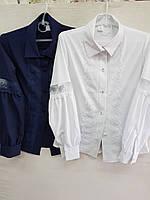 Блузка для девочек 8-14 лет с отделкой