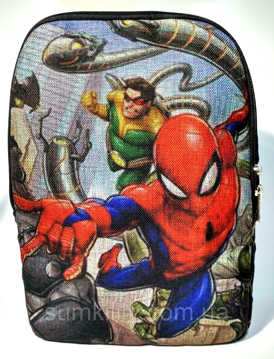 Джинсовый рюкзак Человек паук