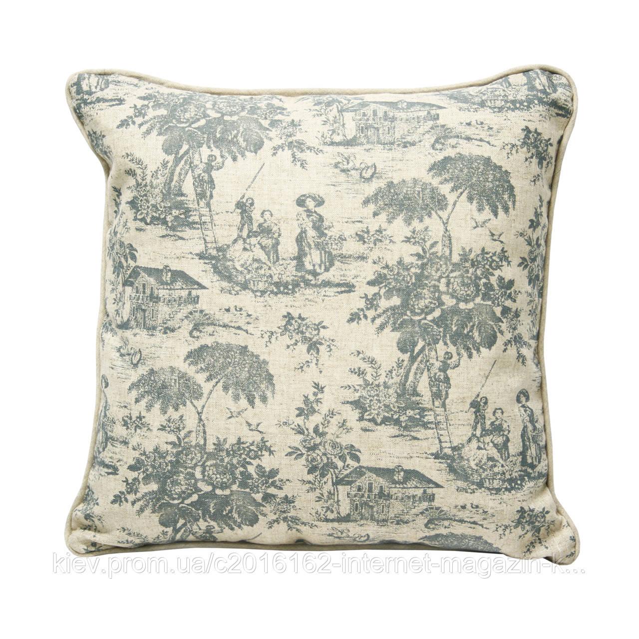Подушка для дивана Home4You HOME  45x45cm  бежевая с этническими мотивами