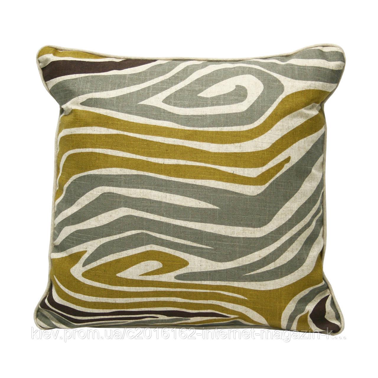 Подушка для дивана Home4You HOME  45x45cm  бежевая с африканским мотивом
