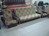 Диван-книжка + 2 кресла б/у, набор мягкой мебели б/у