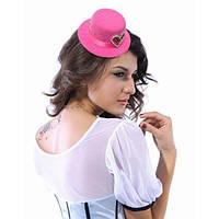 Рожевий капелюшок-циліндр