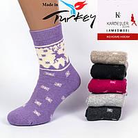 Женские ароматизированные носки шерсть махра Kardesler BS992. В упаковке 12 пар. Турция.