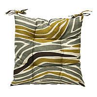 Подушка для стула Home4You HOME  40x40cm  бежевая с африканским мотивом