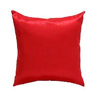 Подушка для стула Home4You INDIGO 2  45x45cm  красная с атласным отливом