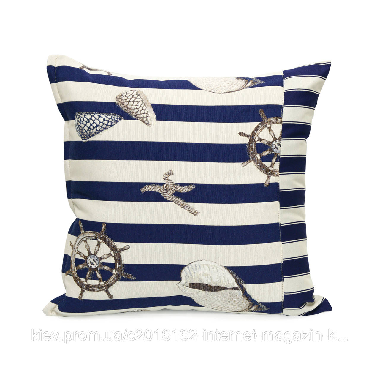 Подушка для стула Home4You HOLLY  45x45cm  бежевая с морским мотивом