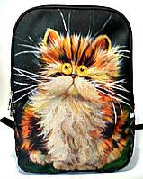 Джинсовый рюкзак Рыжик, фото 1