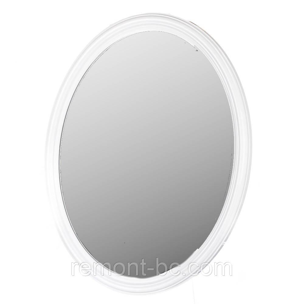 Настінне дзеркало 67X72 067Z біле овал