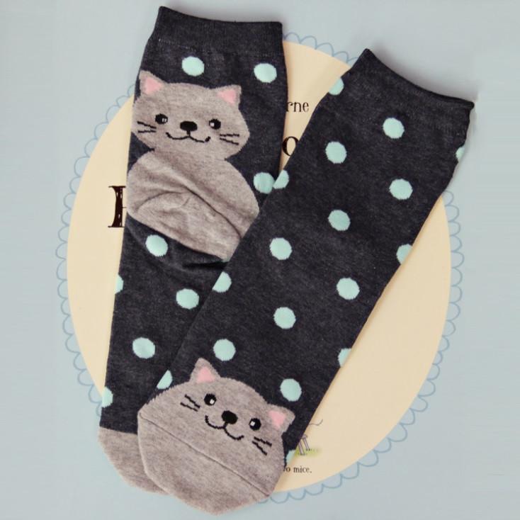 Носки хлопковые с принтом