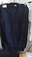 Жилетка вязанная для мальчика-подростка 9-12 лет