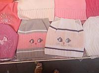 Шапка для девочки легка вязка (в ассортименте) Киси