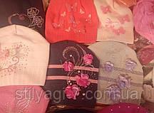 Шапка для девочки легка вязка (в ассортименте)Цветы