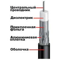 Телевизионный антенный кабель RG -6  ( 25 м)