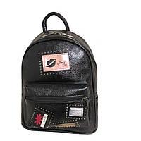 Рюкзак городской подростковый эко кожа маленький черный GS120-1