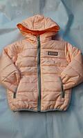 Куртка демисезонная для девочек 6-10 лет с капюшоном